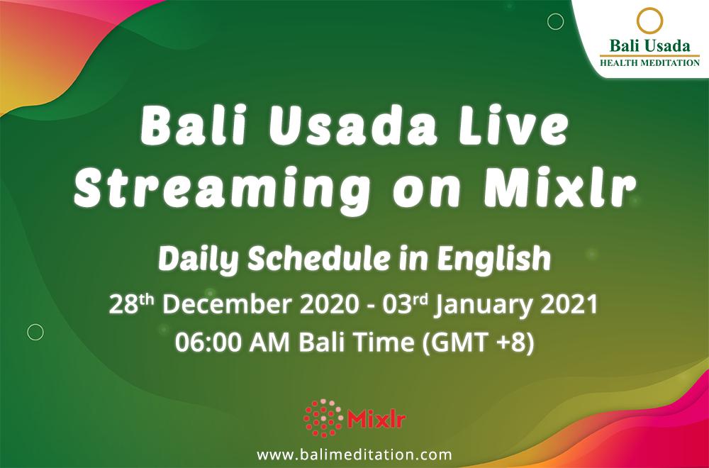 Bali Usada Live Streaming On Mixlr Daily Schedule In English News Bali Usada Health Meditation